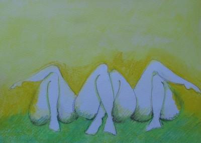 As três Marias, desenho, tecn. mista s. papel