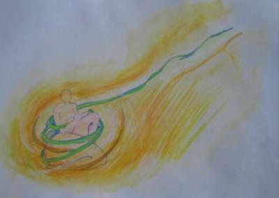 O Fio de Ariadne, tecn. mista s papel (2)