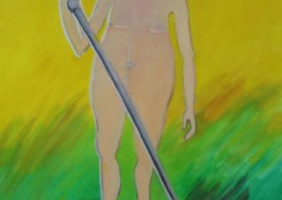 O Rei Vai Nú cril. s. tela 30x23,5