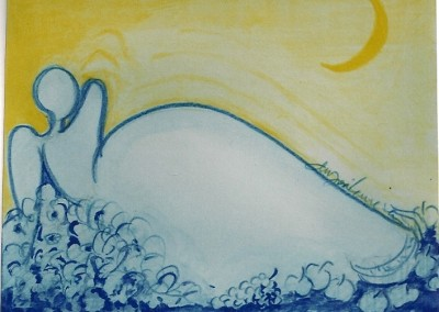 Proj. Azulejo 2003 Lápis e aguarela s. papel 15x15