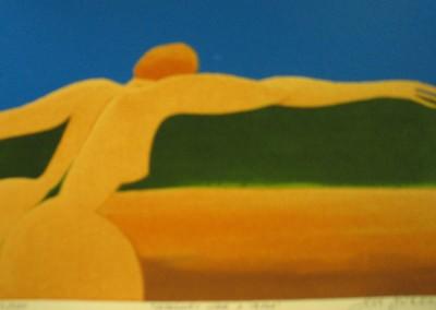 Repousando sobre a Terra , óleo s tela, 60x90
