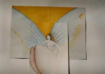 dos anjos a beleza e formosura-tecn. mista s. papel 28x30 c.m.sintra