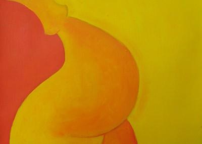 grávida, ac. s. tela, 35x27