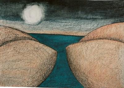 paisagem feminina 1998 tecn. mista s. papel 48x60