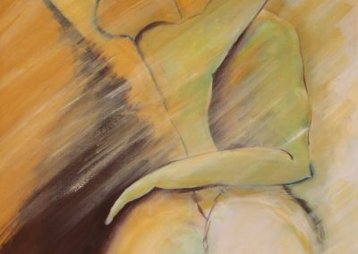 Abraçando, acril. s. tela, 70x50