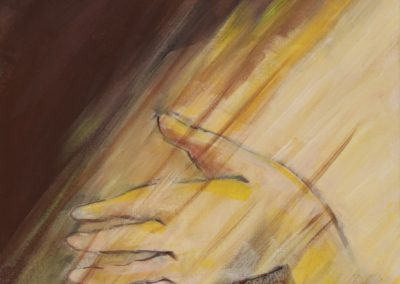 Apoio de mão, acril. s. tela, 50x40