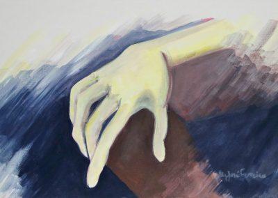 Mão-acril.s tela-40x70
