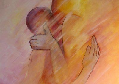 Um abraço e um beijo, acril.s tela, 90x70